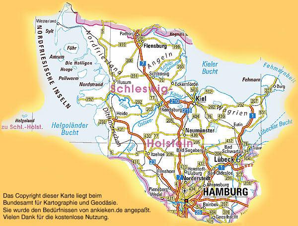Schleswig Holstein Karte.Ankieken De Schleswig Holstein Karte